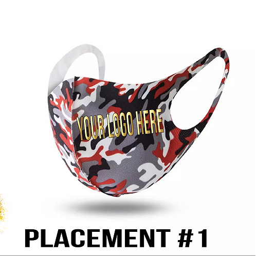 Red Camouflage Custom Face Mask