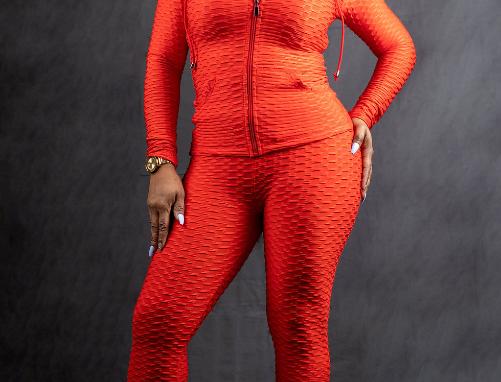 Red Two Piece Athletic Set