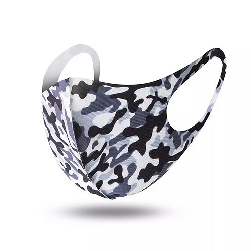 Blue Camouflage Daily Face Mask (Non-Medical Grade)
