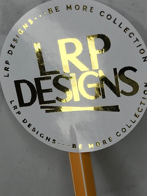 Gold Foil White Round Custom Logo Stickers