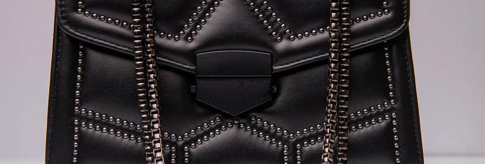 Black Handbag with Gun Metal Chain