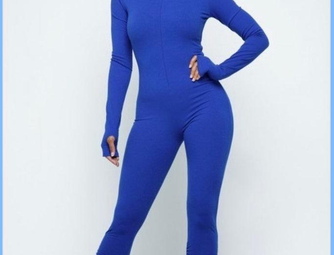 Royal Blue long sleeve body suit
