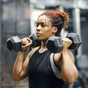 fit-young-african-american-woman-working
