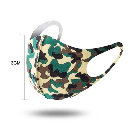 Green Camouflage Daily Face Mask (Non-Medical Grade)