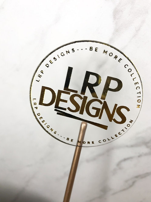 Clear Gold Foil  Round Custom Logo Stickers
