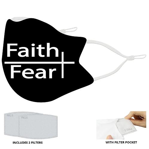 Faith/ Fear Face Mask with Filter