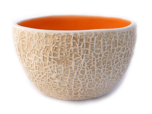 Tall Cantaloupe Bowl