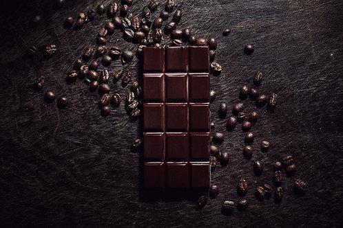 Barra de Chocolate Oscuro con Café