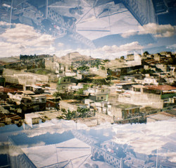 Double exposure analogue photography