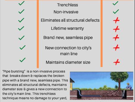 Pipebursting vs Sewer Lining