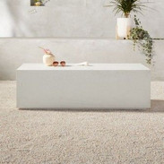 CB2 White Cement Coffee Table
