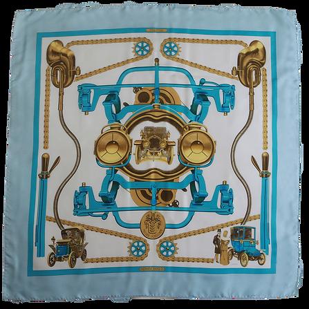foulard hermes schlumpf bleu turquoise o