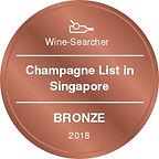 Champagne List in Singapore-Bronze 2018.