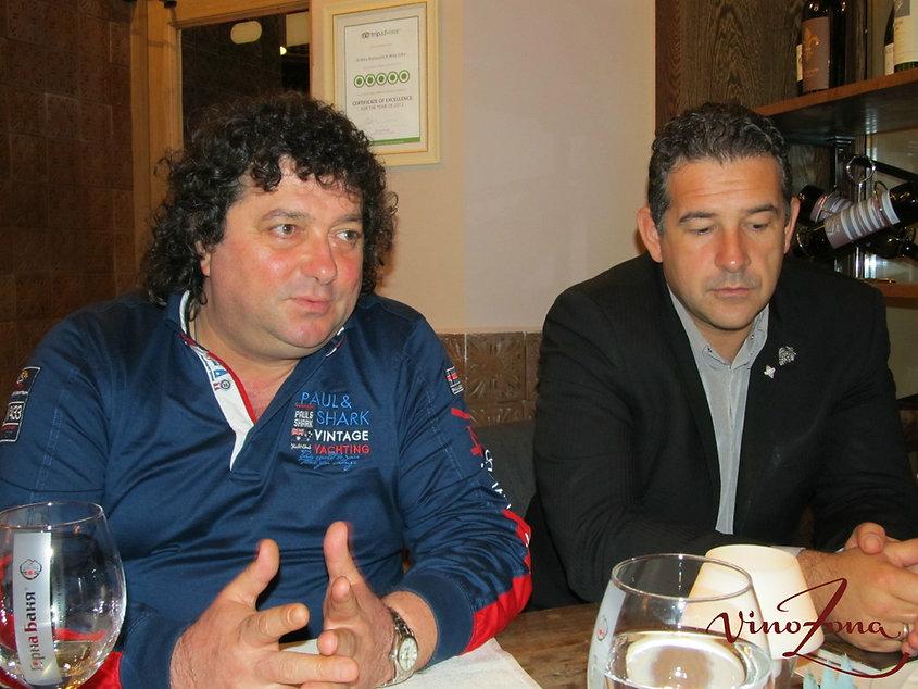 На снимката:  Красимир Кънев (собственик на Di Wine) и Любомир Стоянов (управител)