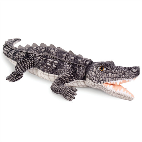 Open Mouth Crocodile-Gray