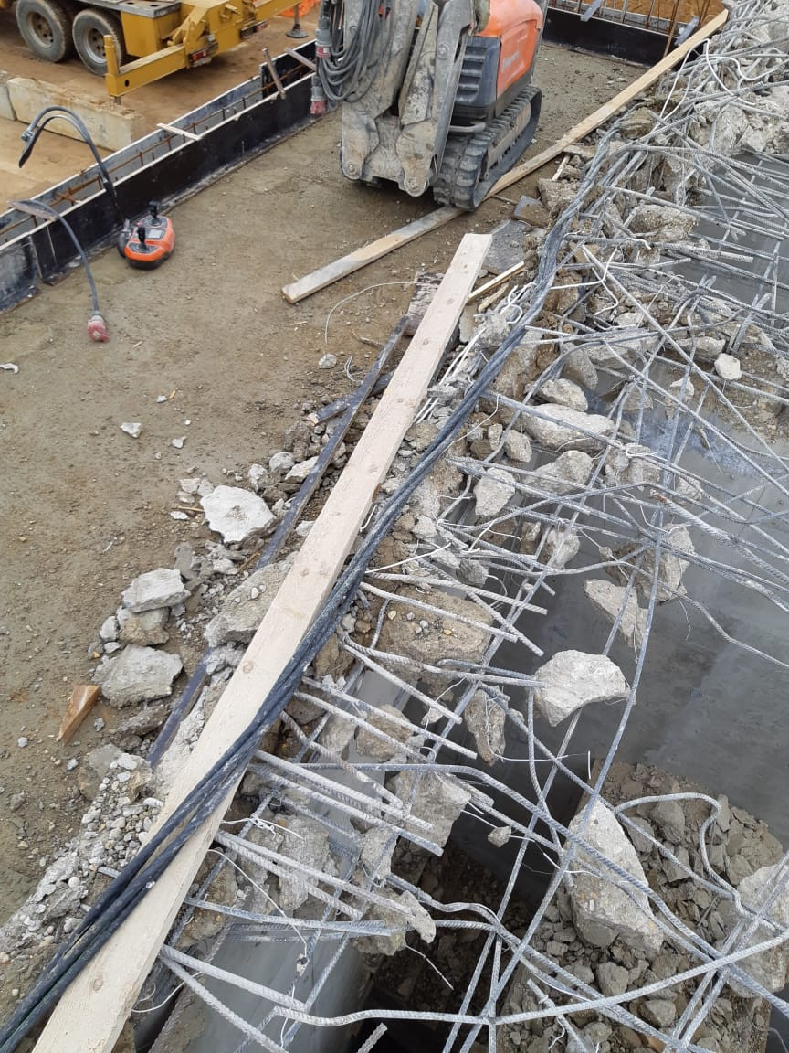 демонтаж бетона демонтажным роботом