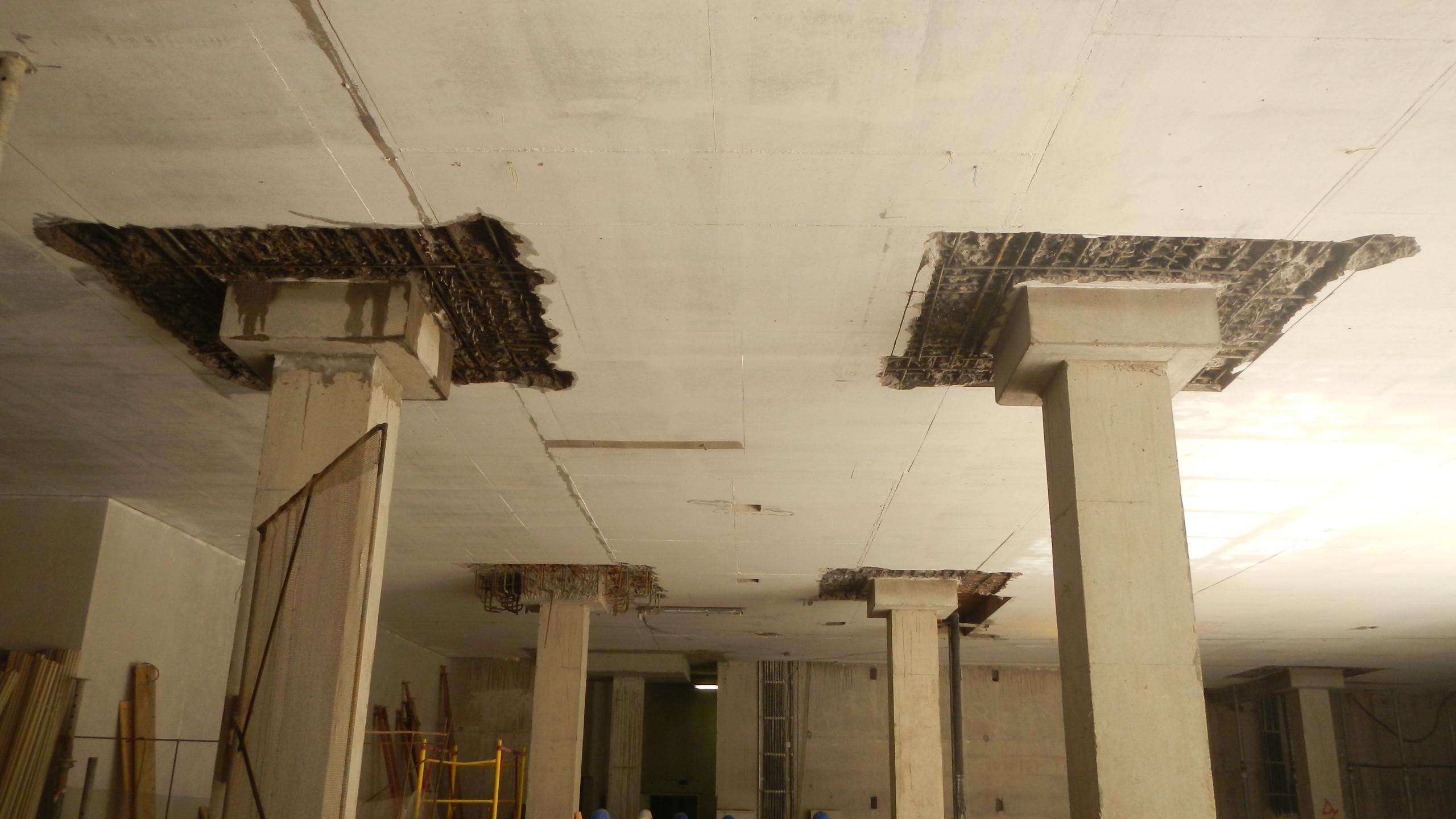 Демонтаж бетона перекрытий с сохранением армкаркаса. г.Санкт-Петербург, Газпром Экспорт