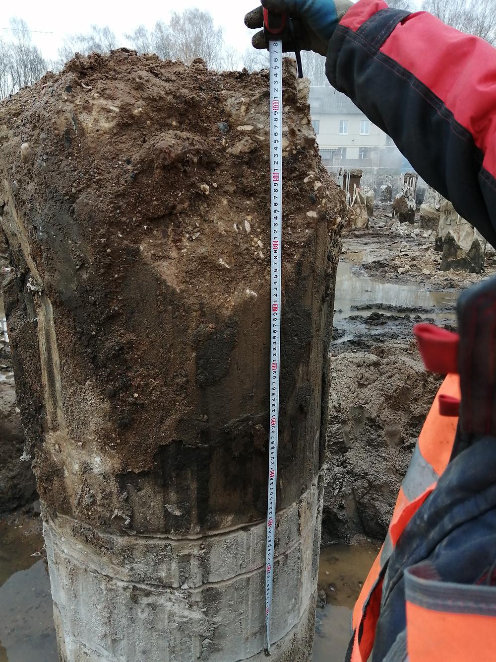 Высота демонтируемого оголовка от 0,5 до 1 метра