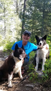 Me and my bear dogs, Mara (11 years old) & Sirkka (11 months old)
