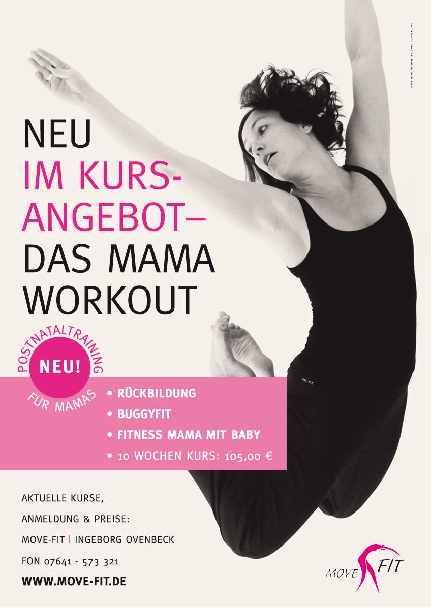 Plakat Mama Workout Fitness