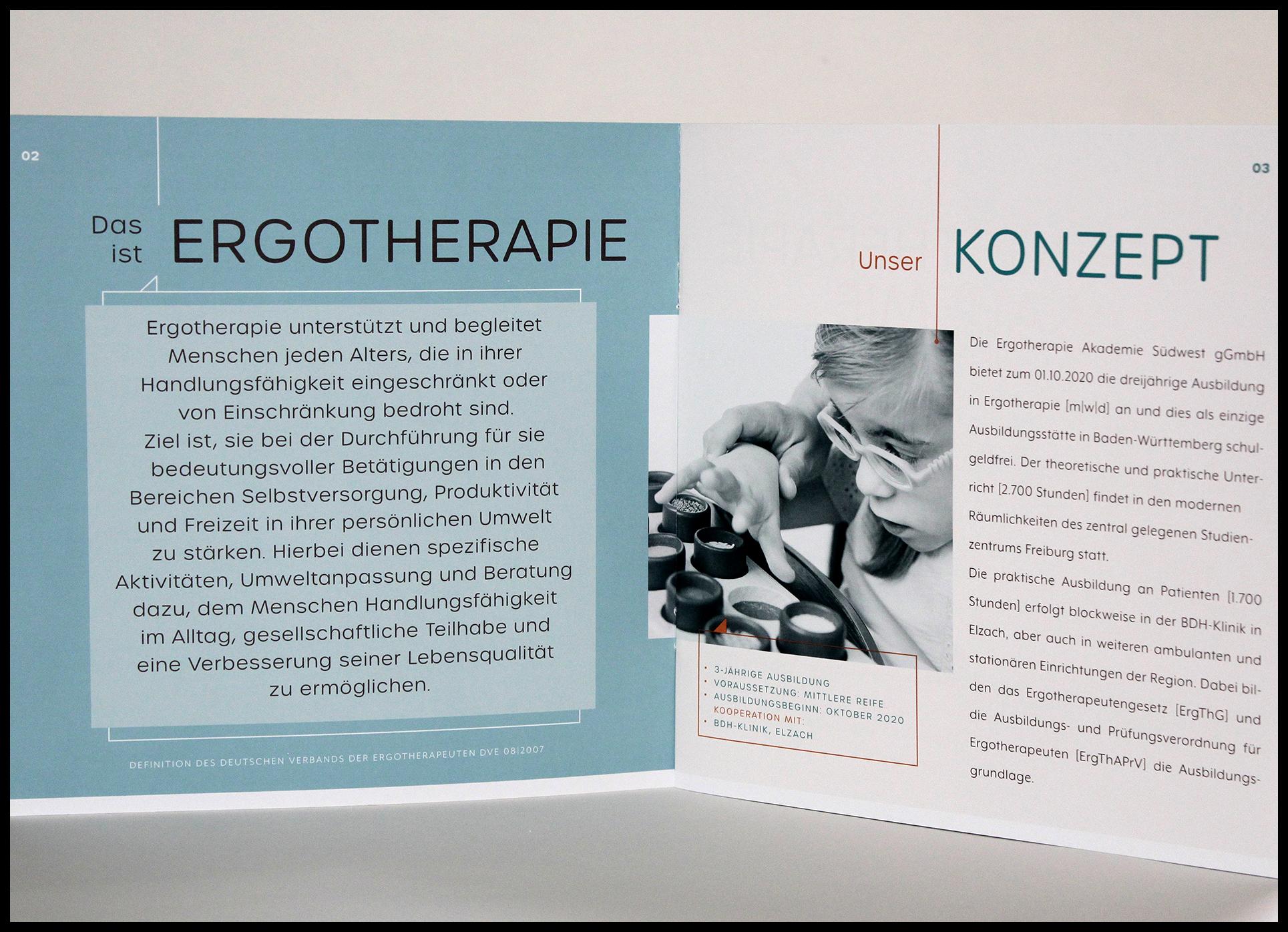 Innenseiten für Broschüre Ergotherapie