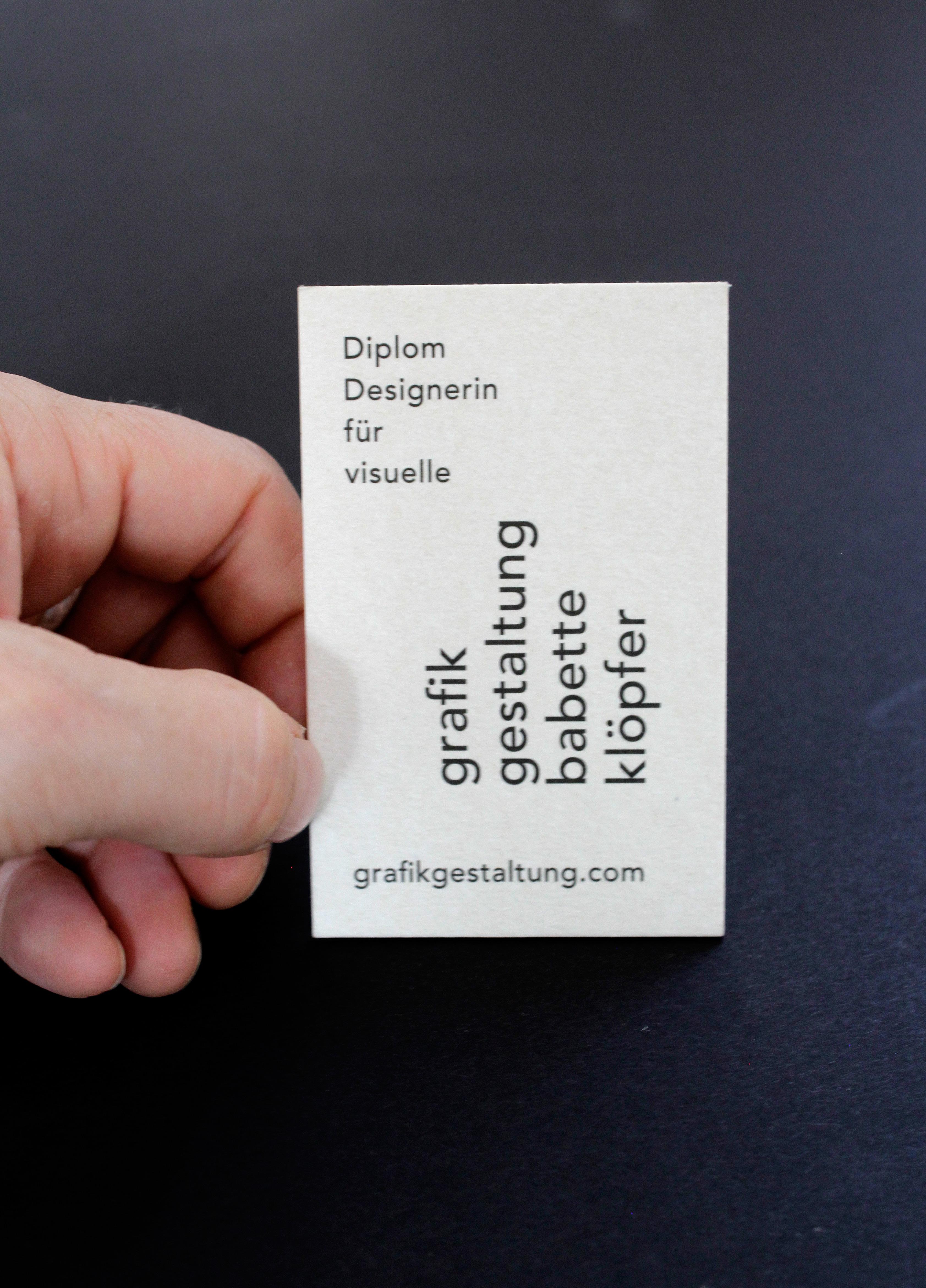 Eigenwerbung Visitenkartengestaltung