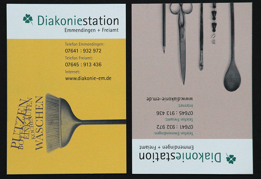 Postkartenflyer/Serie für Diakoniestation