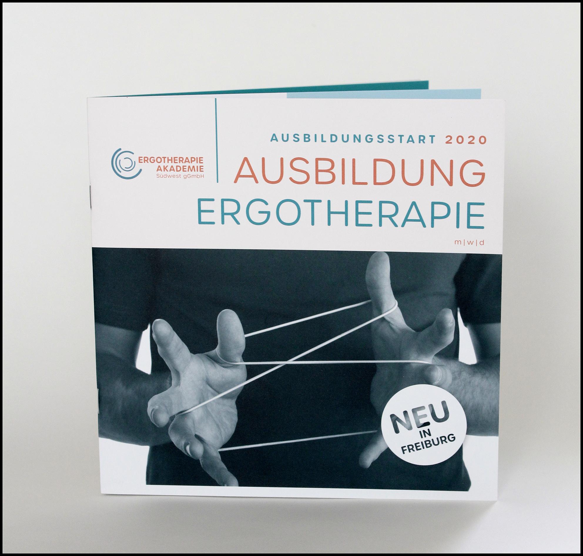 Titelgestaltung für Broschüre Ergotherapie