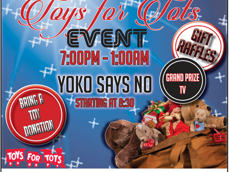 Toys 4 Tots Event - Nov. 12th