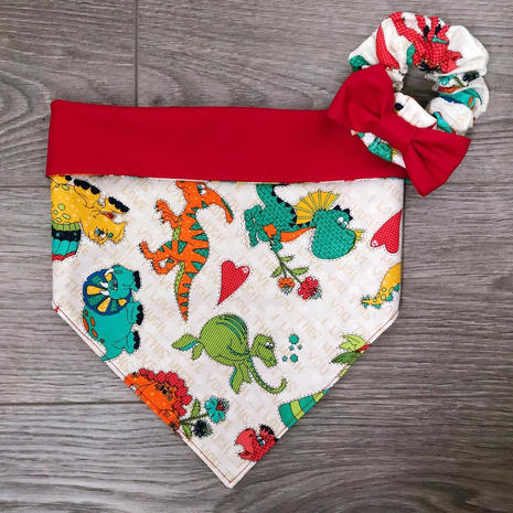 Red Dino & Scrunchie