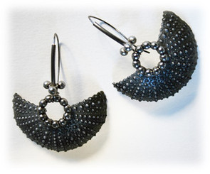 "earrings ""Fan II."""