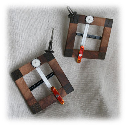 "earrings ""Windows"""