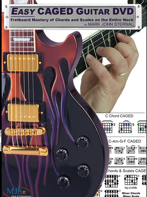 EASY CAGED GUITAR: Fretboard Mastery of Chords and Scales on the Entire Neck