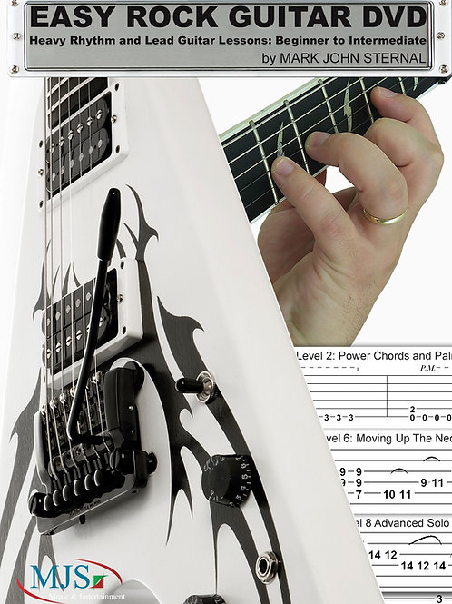 EASY ROCK GUITAR: Rhythm and Lead Guitar Lessons: Beginner to Intermediate