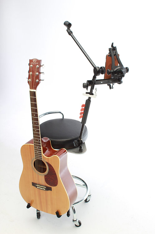 The Solo Station: Stool and Microphone/Guitar Stand