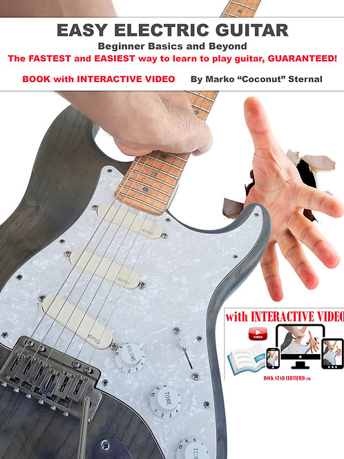 Easy Electric Guitar Book w/Video