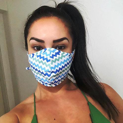 Máscara - Zig Zag Azul