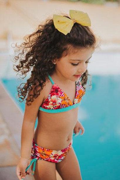 Sunguete Lauane - Hibísco Pink e Verde Água