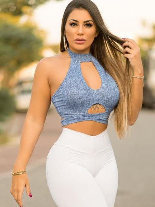 Cropped Mariana - Blue Jeans