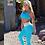 Thumbnail: Calça Suzi - Azul Miami Tule Branco