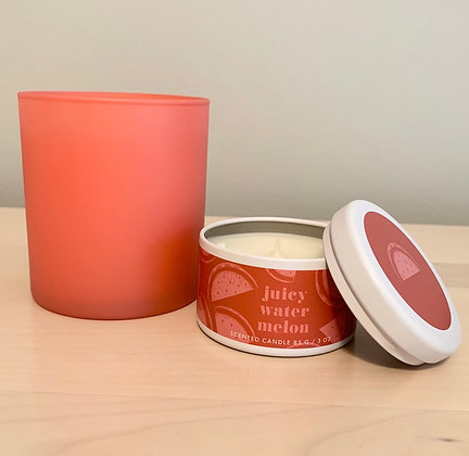 Juicy Watermelon  | Poured Soy Candle Set
