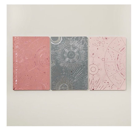 Astrology Maps | Set of 3 Small Notebooks