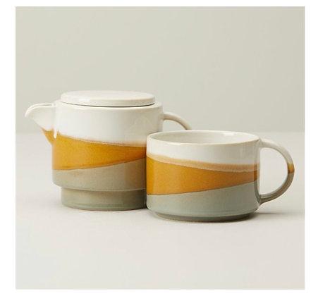 Golden Dip Ceramic Tea-for-One w\Choice Teas