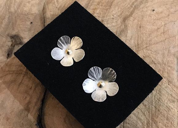 Boucles d'oreilles fleurs printanières