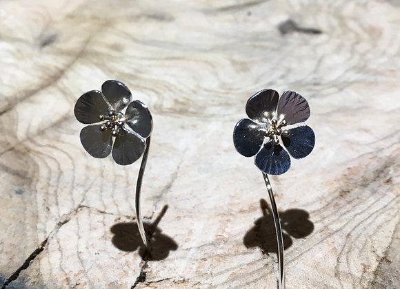 Boucles d'oreilles fleurs cerisier