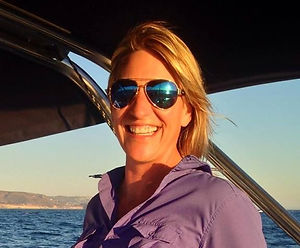 Photo of Captain Genevieve on sailboat on Flathead Lake