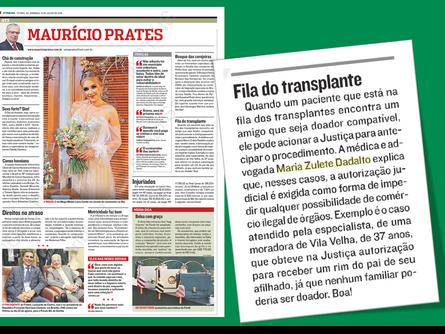 Autorização judicial para transplante de órgão.