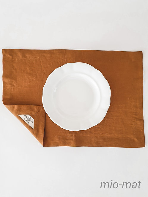 Linen placemat - terracotta (set of 2,4,6,8)