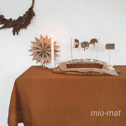 Linen tablecloth - terracotta