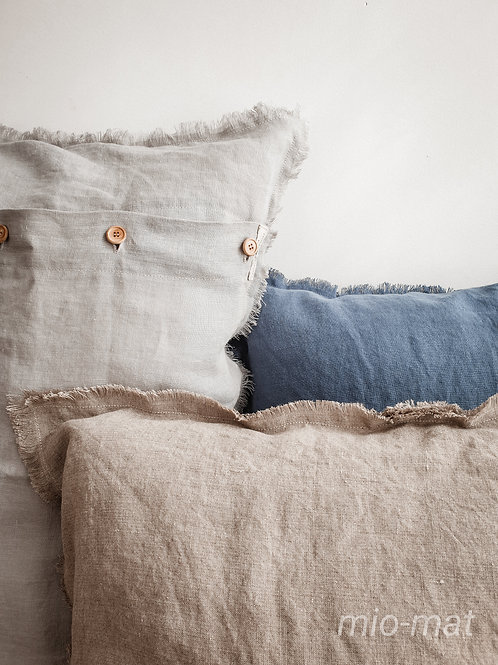 Linen throw pillow cover- Soft Line